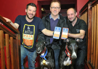 Newspaper article about 2 beers being named after greyhounds