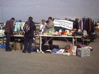 Stall at Westshore Car Boot Sale